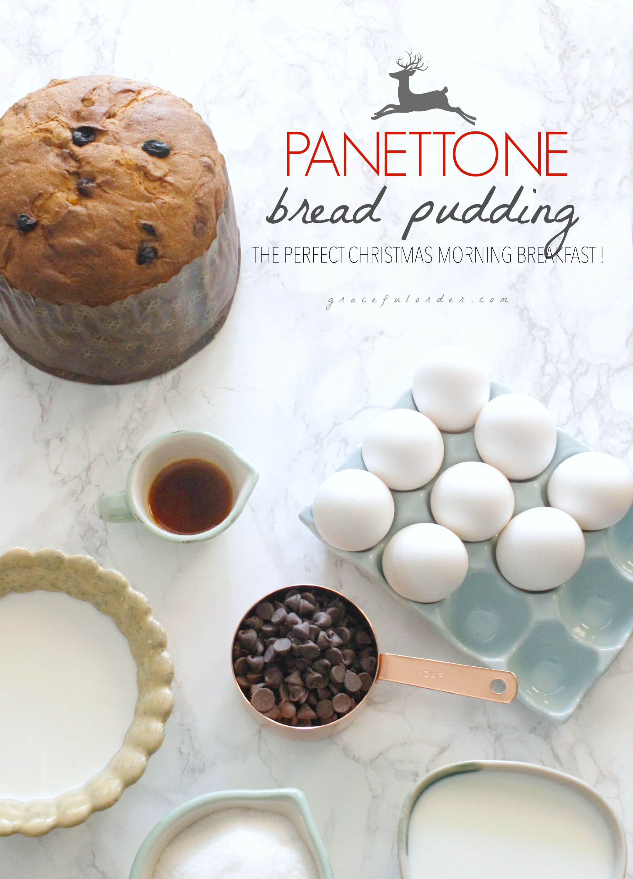 Panettone Bread Pudding - Graceful Order