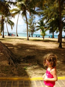 Miss M cruising the beaches of Luquillo Puerto Rico.