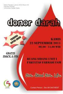 ini pengalaman mengenai donor darah saya pertama kalinya