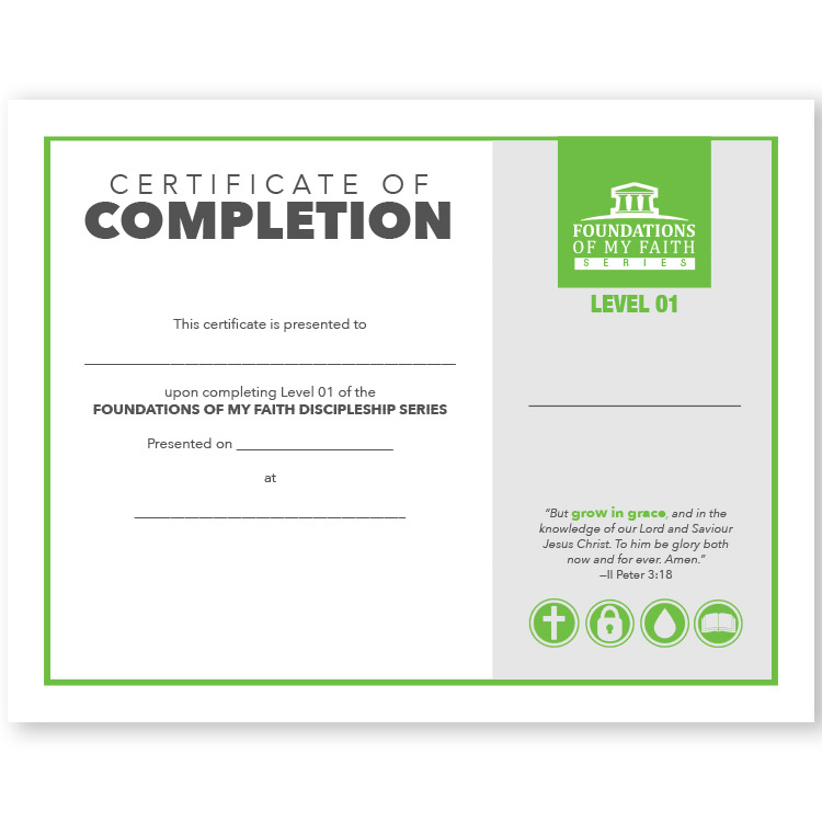 Grace to Grow Publications » Level One Completion Certificates (Set