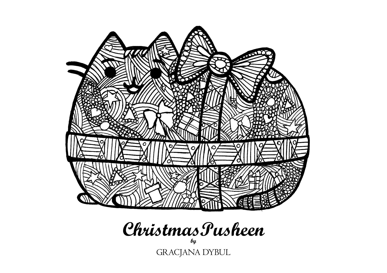 Black Dog Wallpaper Christmas Pusheen Kolorowanki 4 Gracjana Dybul