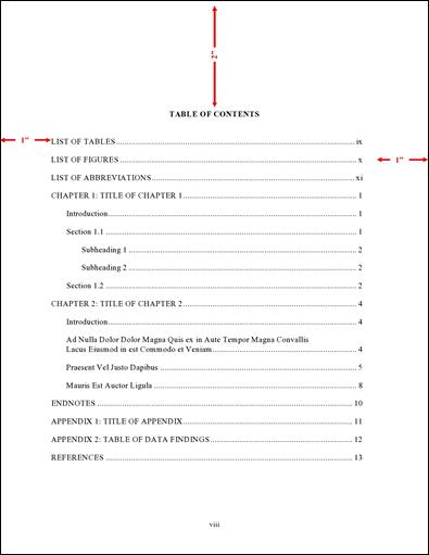 Order and Components - Thesis and Dissertation Guide - UNC-Chapel