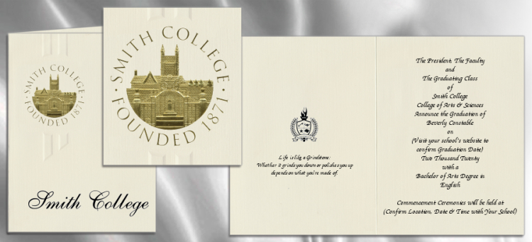Smith College Graduation Announcements Smith College Graduation