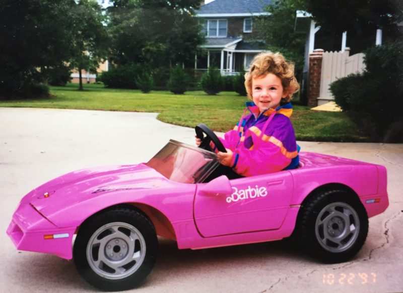 Baby Rayna's Barbie Car (1)