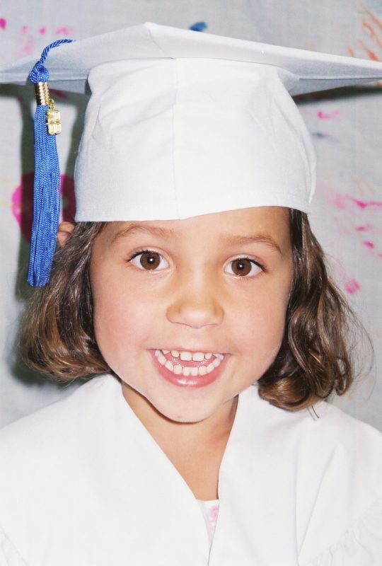 Jessica preK graduation - 95 pixels