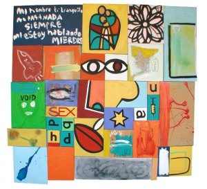 Mi Hombre | 130cm x 150cm | Acrylic, gloss & mixed media on board | 2003