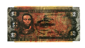 Bank of Jamaica Paul Bogle | 21cm x 43cm | screen print, collage | 2009