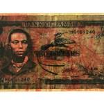 Bank of Jamaica Paul Bogle | 21cm x 43cm | screen print, collage | 2009
