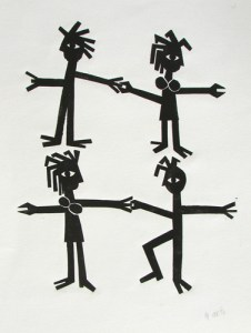 The Couples Dance | 30.5cm x 40.5cm | Linocut | 1996