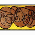 Banana Dream | 144cm x 82cm | MDF, enamel, oil, varnish, Ink | 2010