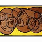 Banana Dream | 144cm x 82cm | MDF, enamel, oil, varnish, Ink | 2010