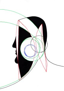 BLACK ANGELS 6   Pen and Ink   Inward Gaze, Outward Focus (Synesthesia)    21cm X 29.7cm    2015