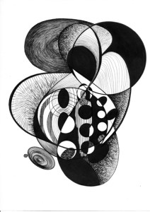 Chemistry (after Jon Hassell)   Pen and Ink   Inward Gaze, Outward Focus   21cm X 29.7cm    2016