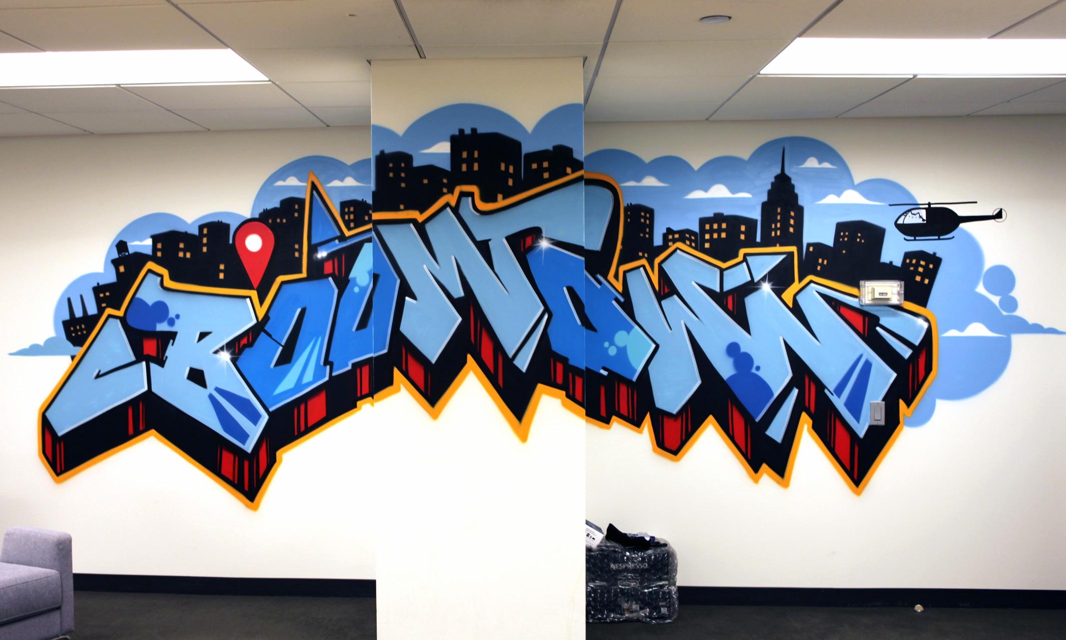 3d Interior Wallpaper Hd New York Facebook Office Graffiti Art Graffiti Usa