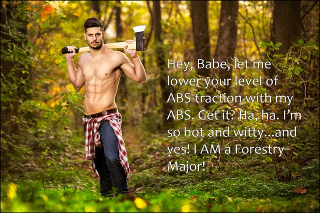 Good looking man posing with axe Good looking man with axe