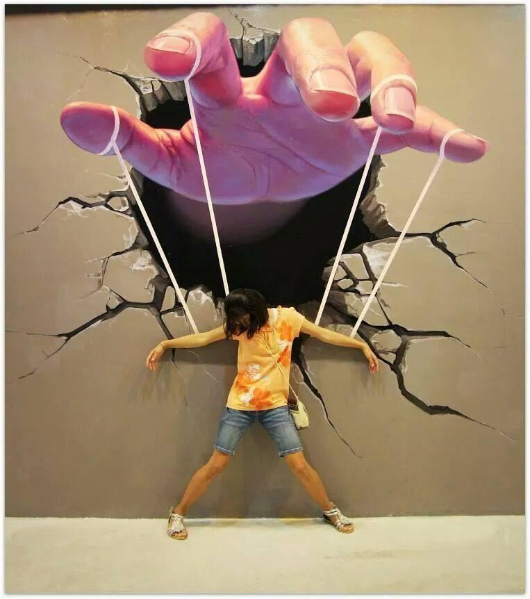 Graffiti 3d hand mural graffiti artist street artists for 3d street painting mural art
