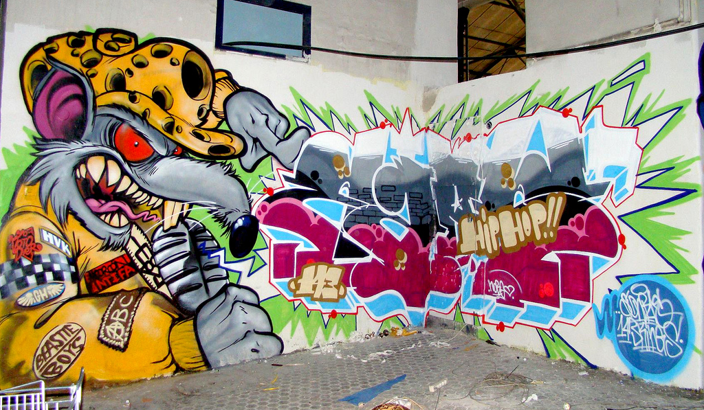 Graffiti Behang Praxis Graffitis De Hip Hop | Arte Con Graffiti