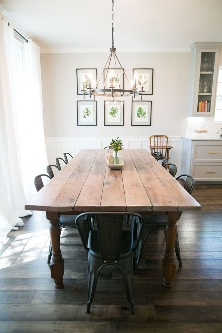 Diy Table A Manger Farmhouse Chic Dining Room Table Suitable With Farmhouse Dining