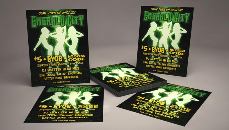emerald club flyer - Pinephandshakeapp - emerald flyer template
