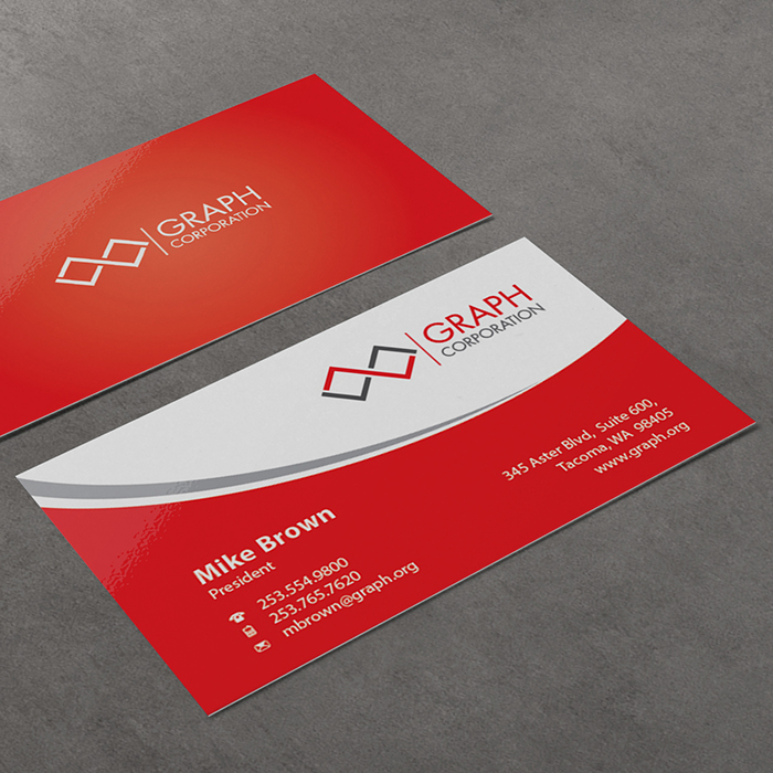 Business Cards -UV 1 or 2 Sided Coating-Square Corner - Grafikos