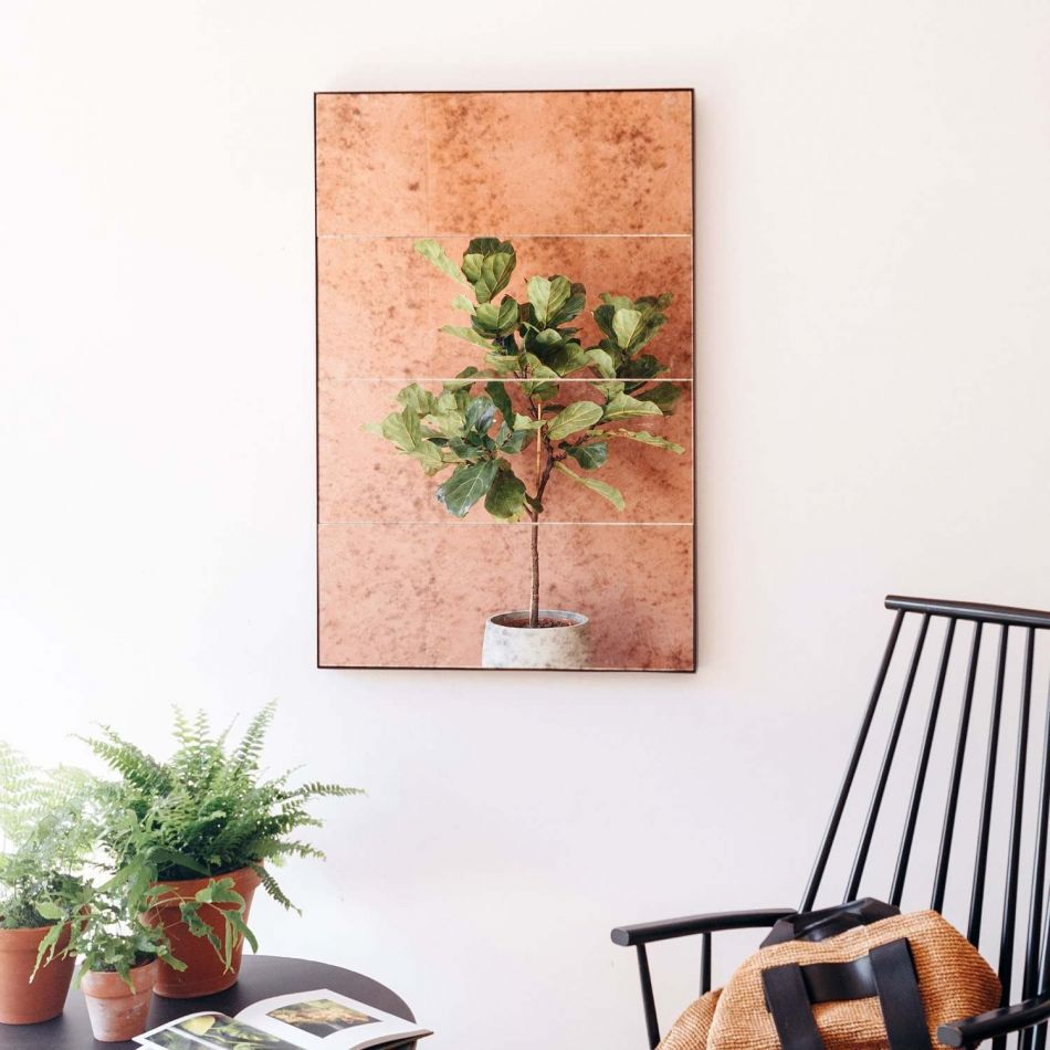 Vintage Fotos Metal Vintage Mirror | Graham & Green