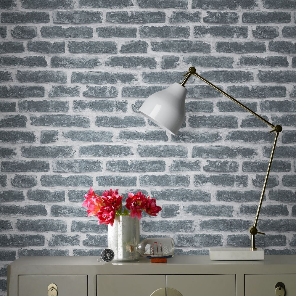 Brick Meubles Divan Lit Industrial Style With 3d Brick Effect Wallpaper Graham Brown Uk