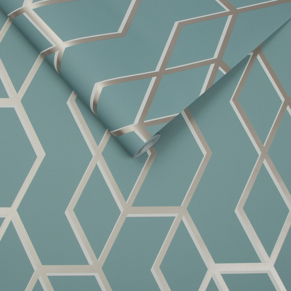 Archetype Mint White Gold Wallpaper Grahambrownrow