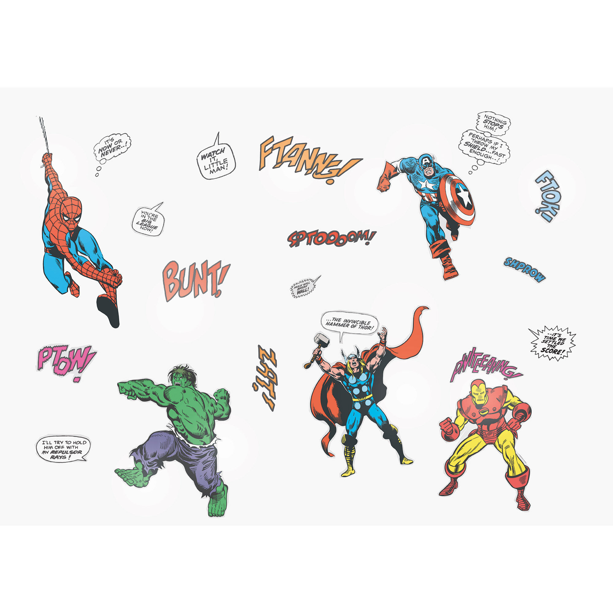 Muurstickers Action Marvel Comics Kleine Muurstickers Graham And Brown
