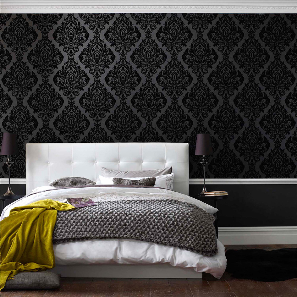 Wallpapers For A Bedroom How To Wallpaper A Feature Wall Feature Wall Step By Step Guide