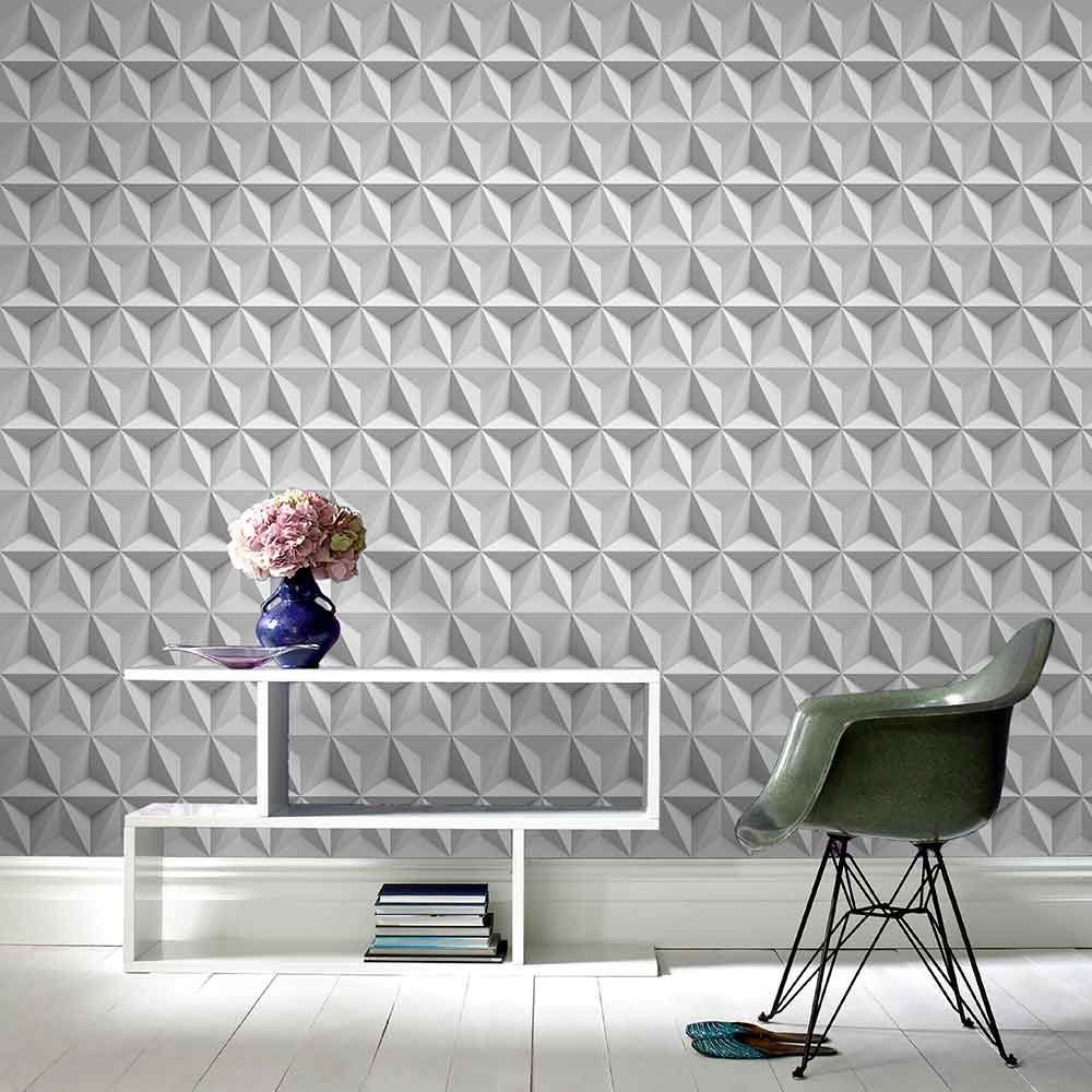 Chic Contemporary Modern Wallpaper How To Use Geometric Pattern Wallpaper Graham Brown Uk