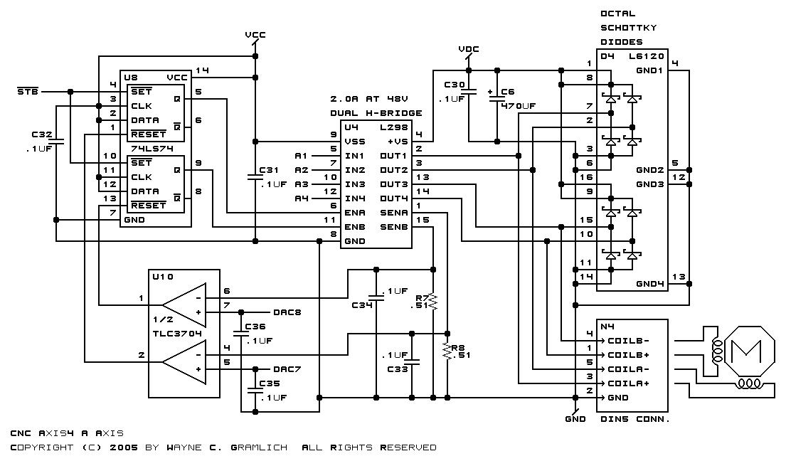 cnc axis4 board schematics rev a