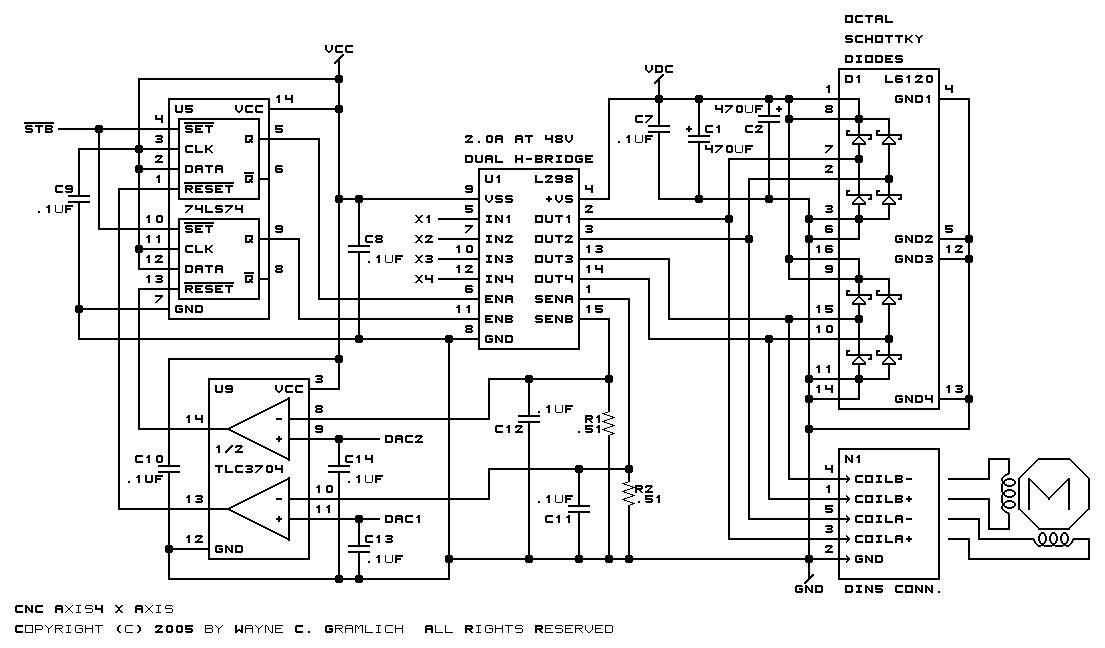 l297 298 stepper motor controller schematic