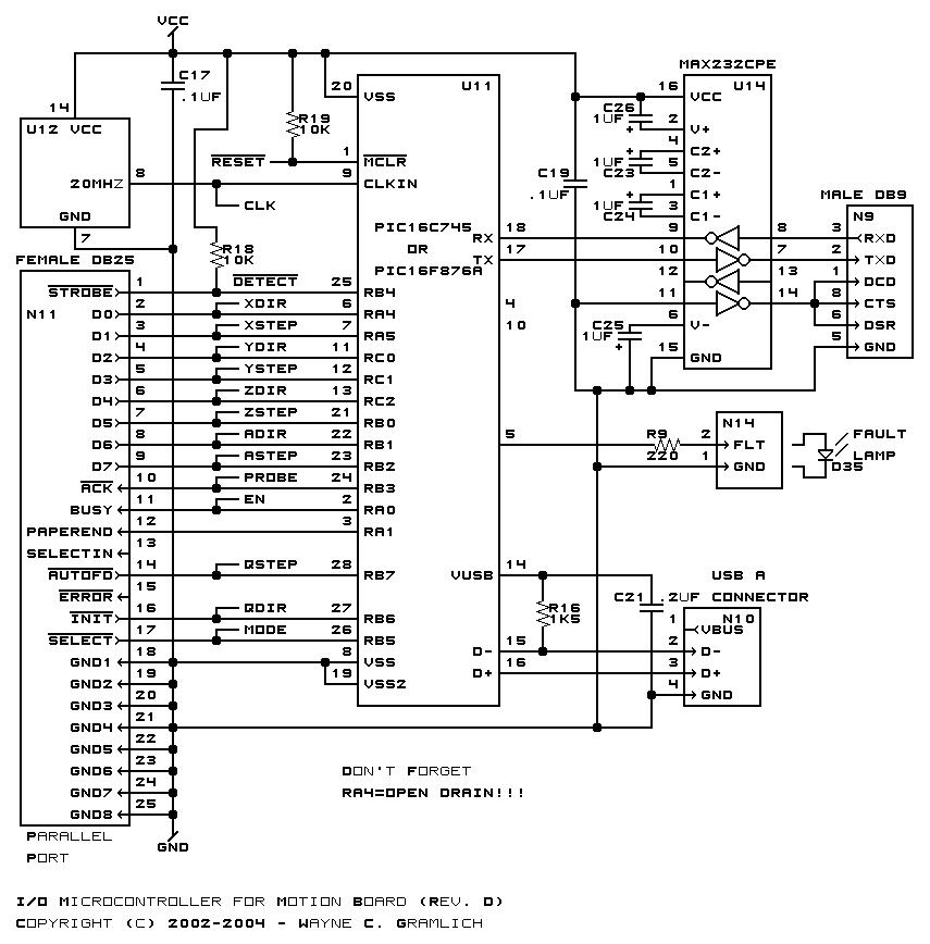 usb cnc controller schematic