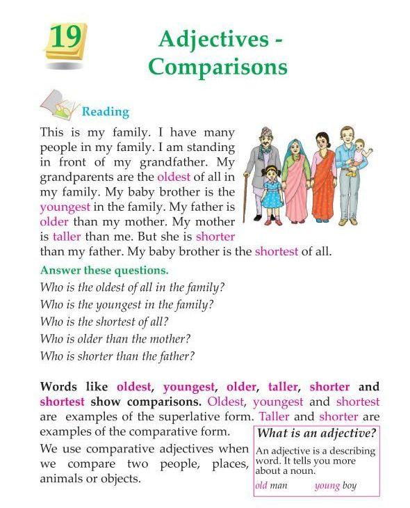 Grammar » 3rd Grade Grammar Comparison of Adjectives