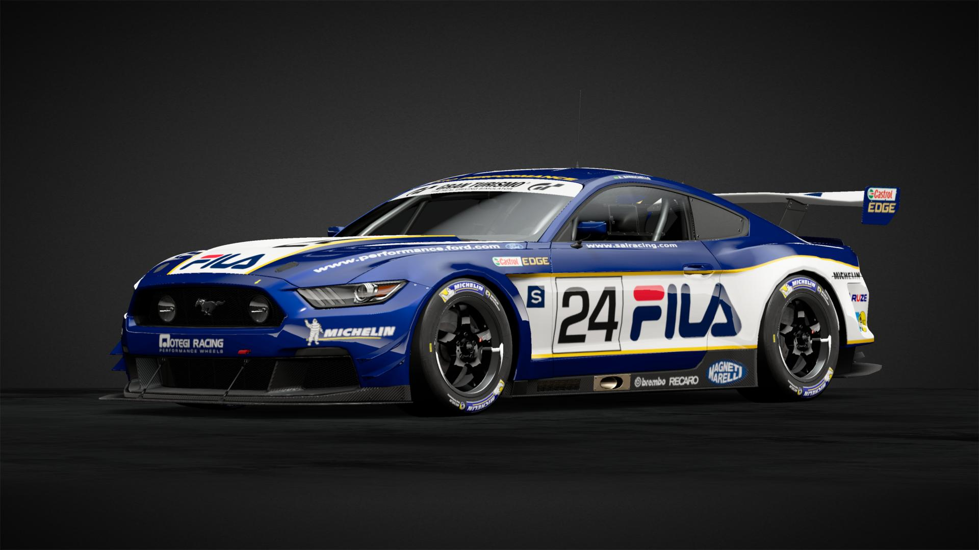 Car Manufacturers Owners Fila Ford Mustang Gt3 Car Livery By Tahoeracing
