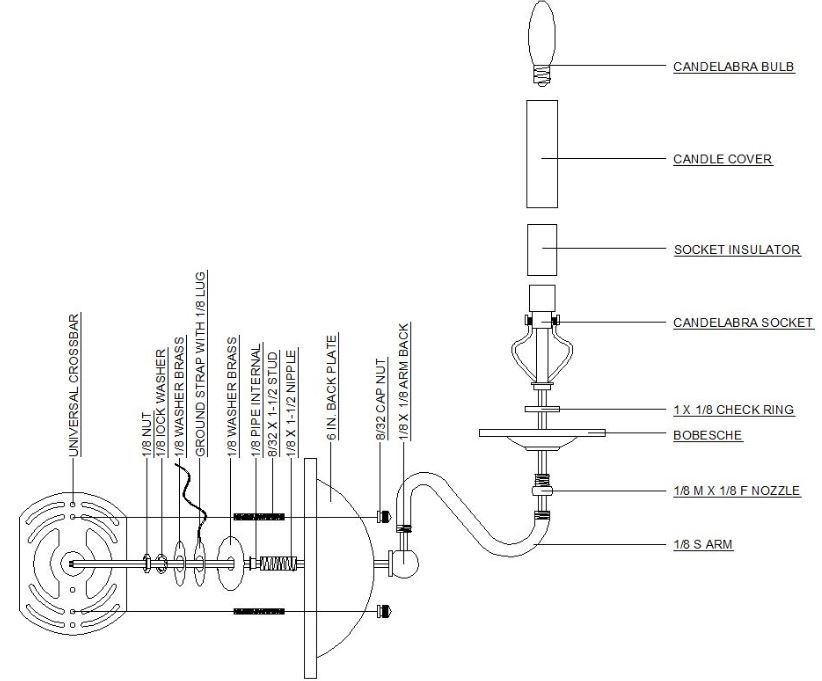 lamp fixture wiring diagram