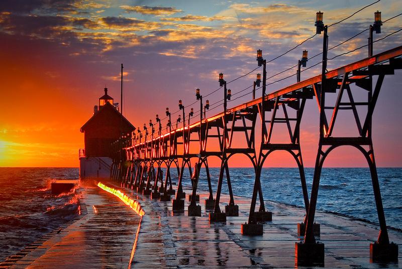 Michigan State Hd Wallpaper Grand Haven Photos Grand Haven Pier