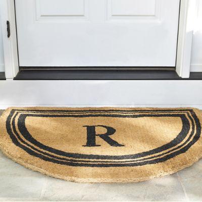 monogrammed coco door mat