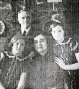 Henry & Carolyn Rhone with twin daughters Judith & Janet 1930s