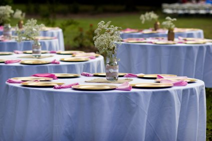 outdoor reception at The Grand Magnolia House