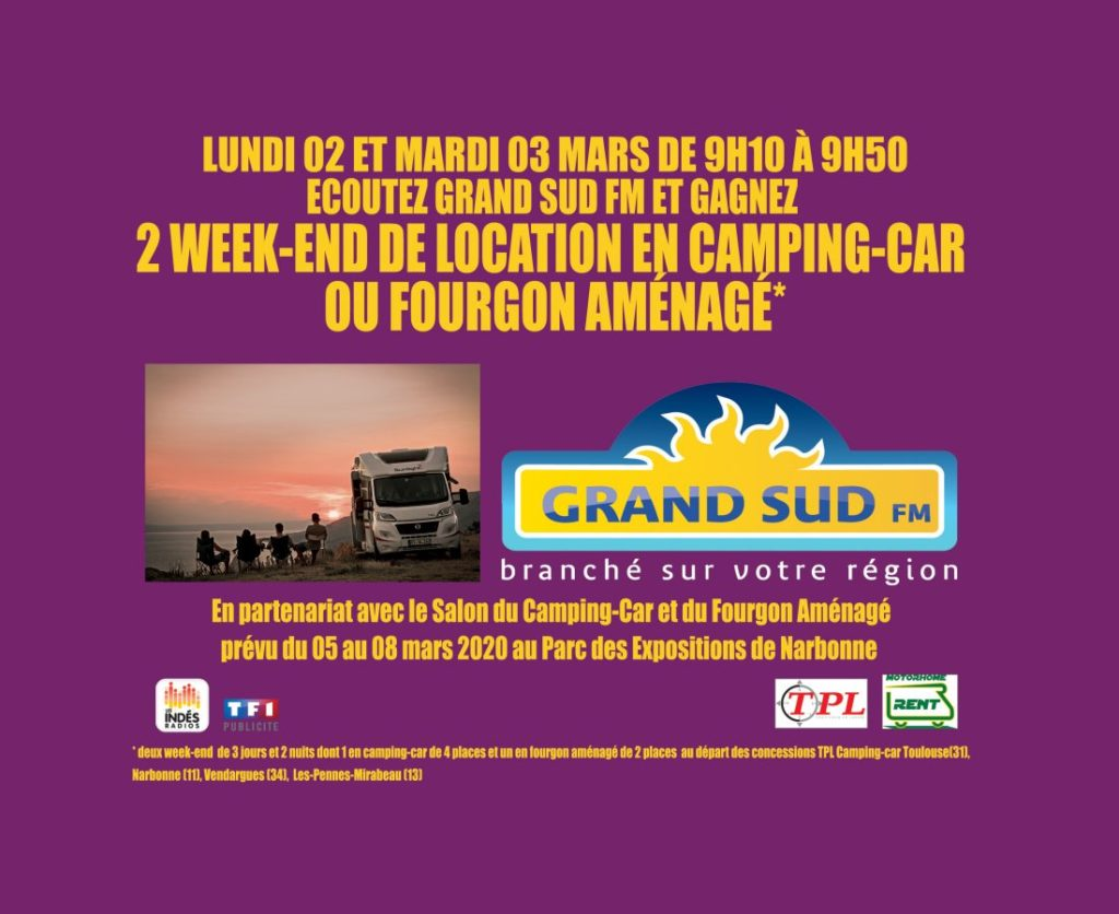 Salon Du Camping Car De Narbonne 5 8 Mars Grand Sud Fm