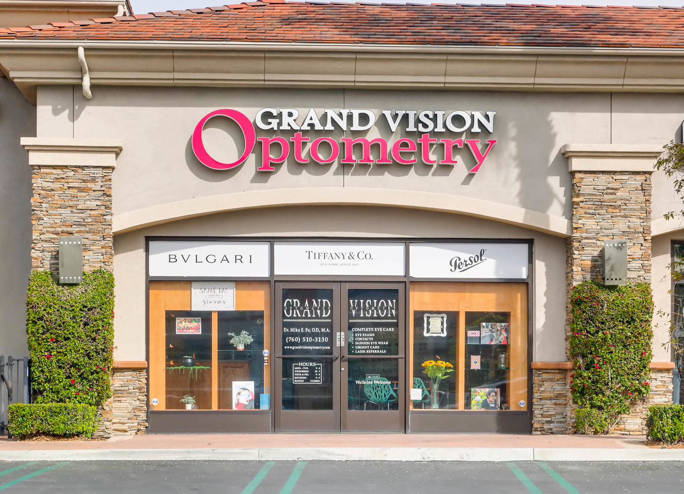 Location & Hours — Grand Vision Optometry - Eye Doctor San Marcos CA
