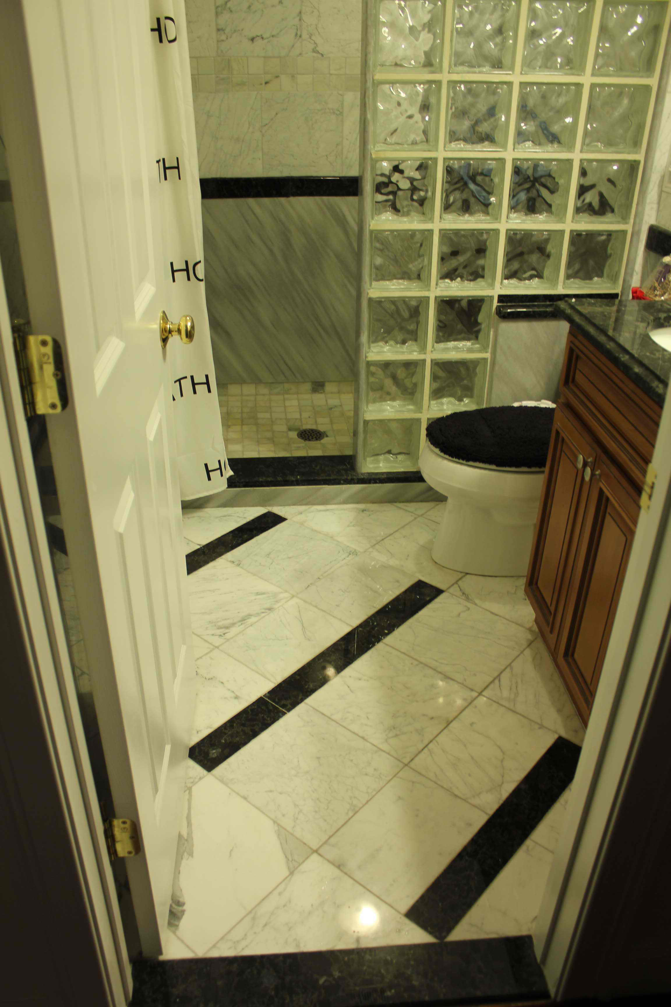 Black Tiled Bathroom Tiled Bathroom Granite And Kitchen Studio