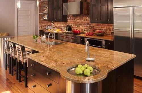 Granite With Veins Namib Gold | Granite Countertops Seattle