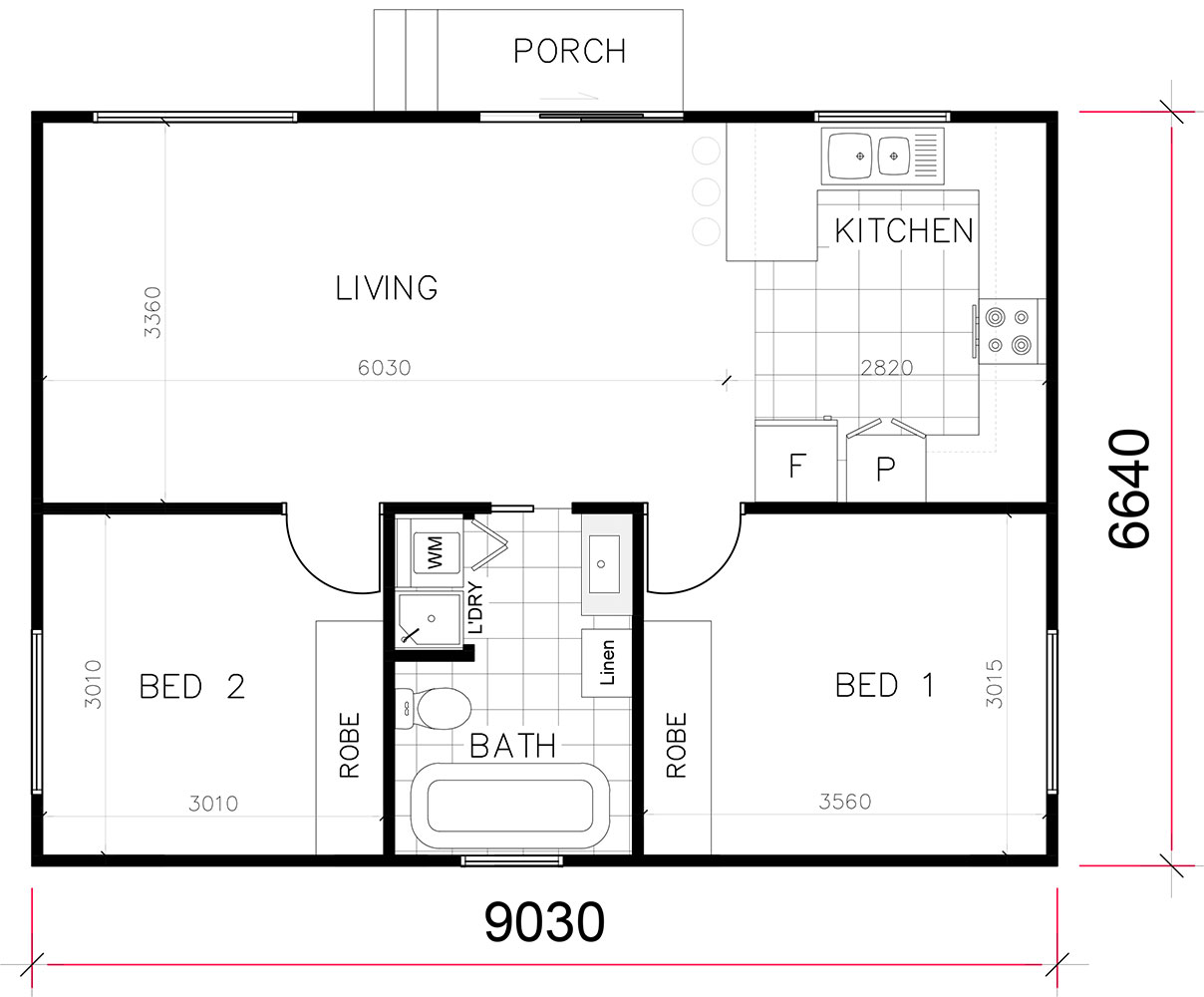 Flat Plan Granny Flat Floorplan Gallery 1 2 3 Bedroom Floorplans