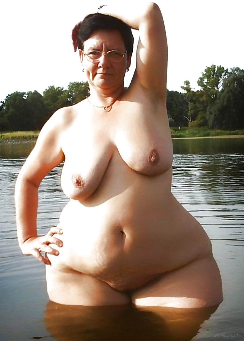thick white cellulite granny