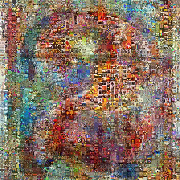 Two of Arts - 2000 Visual Mashups A mosaic of the number 2 made from the art of 2000 Visual Mashups CC BY qthomasbower