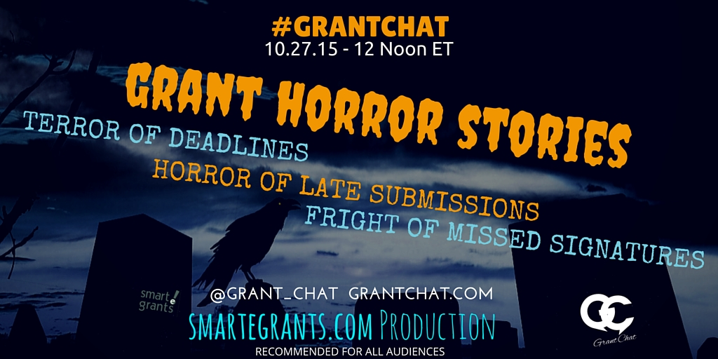 Question Preview: Grant Horror Stories 2015 - #GrantChat