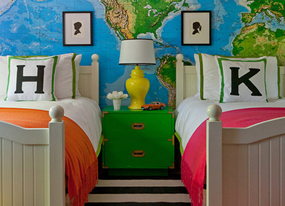 Kid's Room Designed by Grant K. Gibson at grantkgibson.com