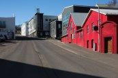 """Art Alley,"" home to Akureyri's thriving gallery scene."
